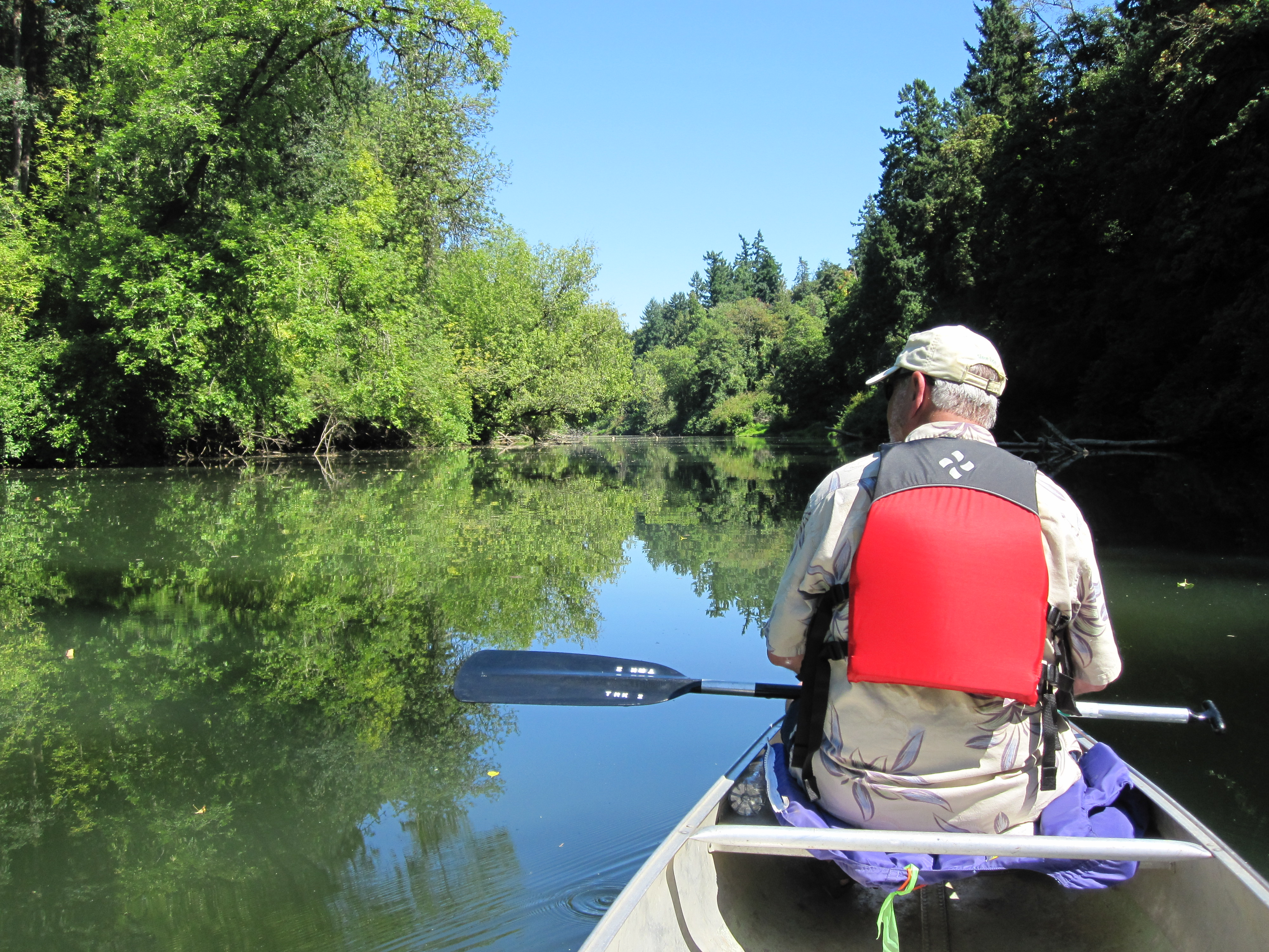 Reflections on water justabackpackandarollie for Tualatin river fishing